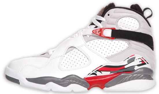 Air Jordan 8 Retro (04 20 2013) 305381-193 White Black-True Red