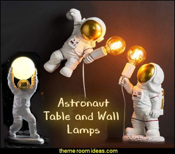 Astronaut Space Man lamp Astronaut lamps moon lamp galaxy bedroom decor  Space Man Wall Light