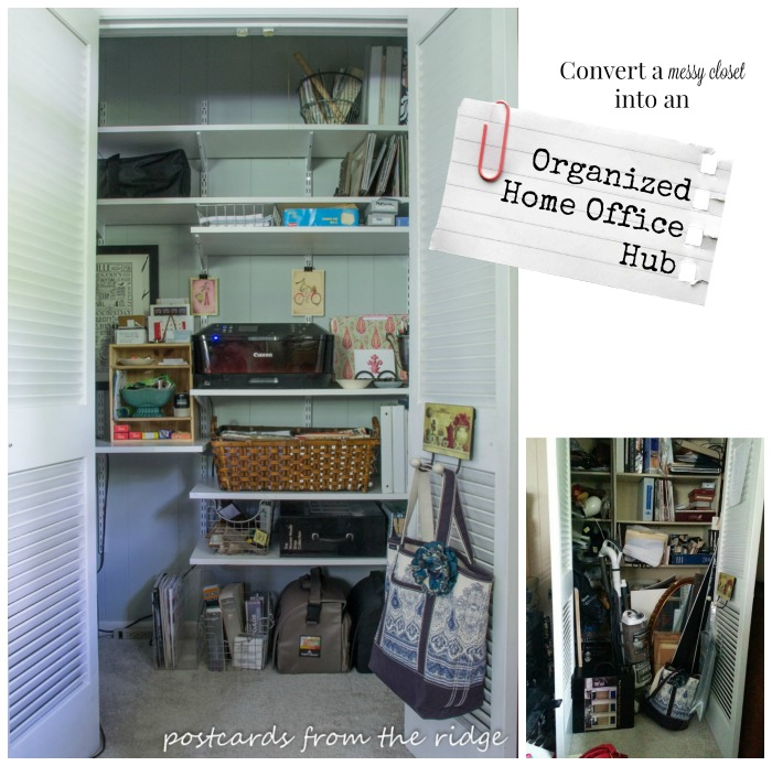 How to organize your home office supplies. Lots of great tips for storage and organization using stylish items!
