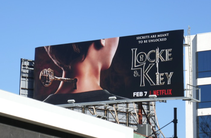 Locke & Key Netflix series launch billboard