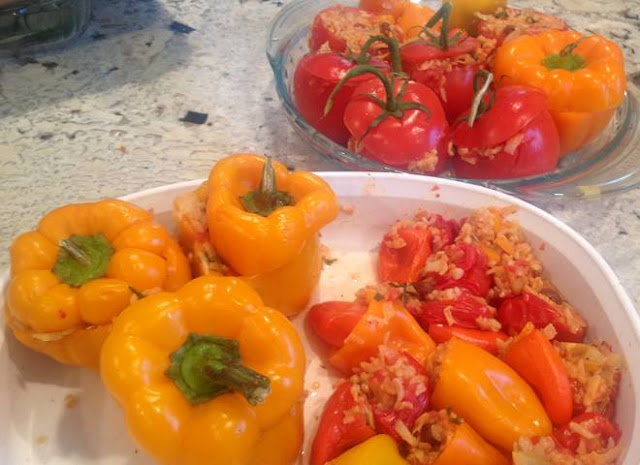 gluten free stuffed peppers at www.realfoodblogger.com