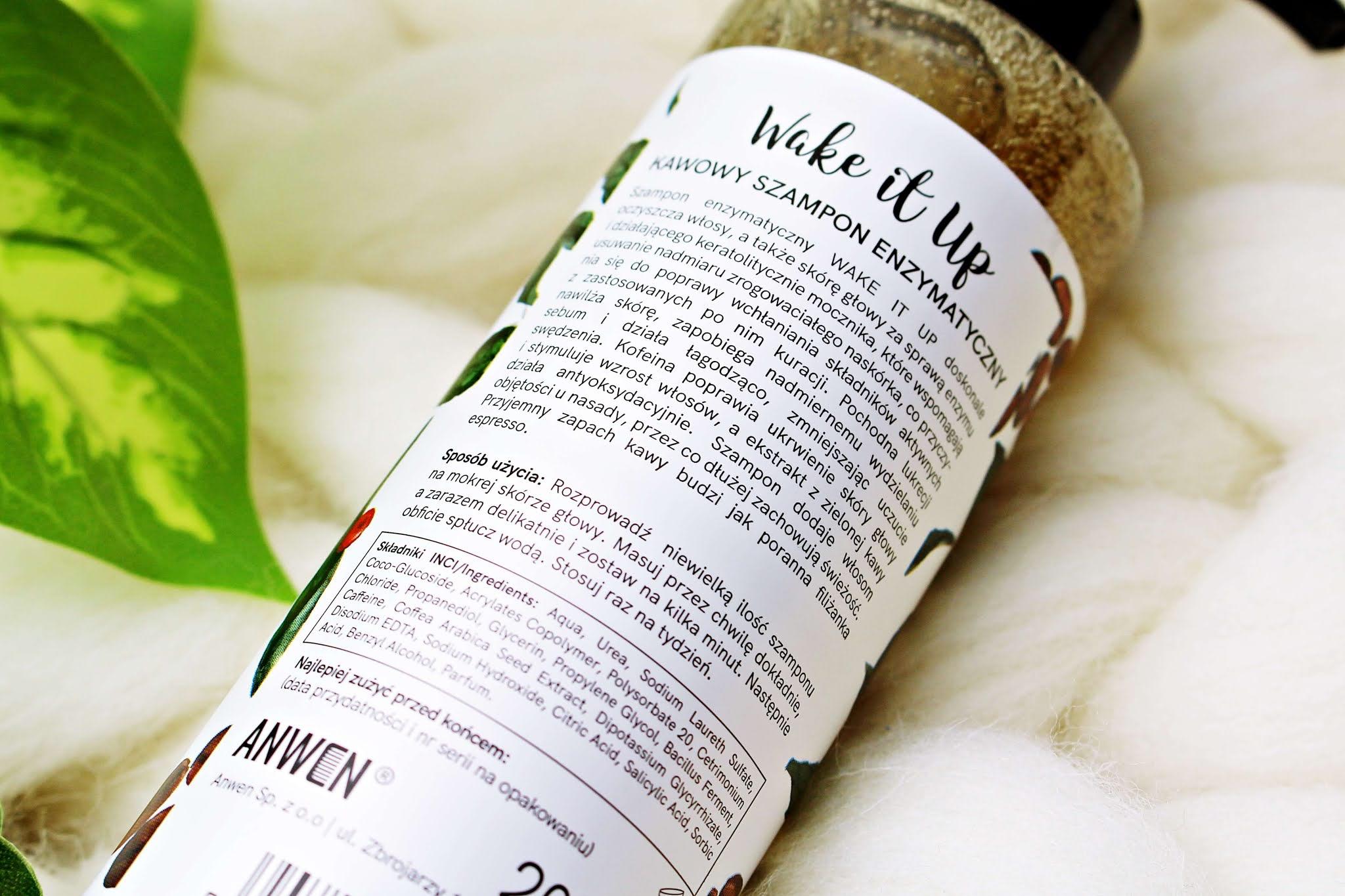 Szampon Anwen Wake It Up, Enzymatyczny szampon kawowy