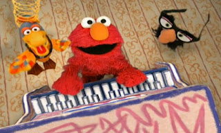 Elmo, Dorothy, the duck and Groucho Marx glasses are singing the Eyes Song. Elmo's World Eyes The Eyes Song