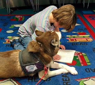 Therapy Dogs, Children reading, Parents, Kids