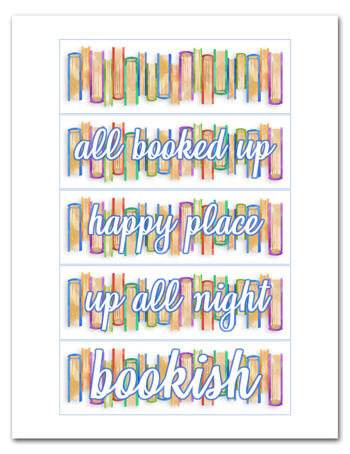 Printable Bookish Bookmarks