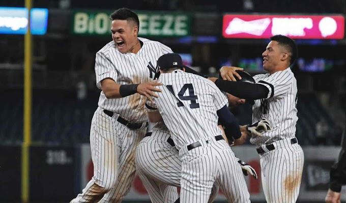 Giovanny Urshela y Yankees son campeones de la división este de la liga americana.