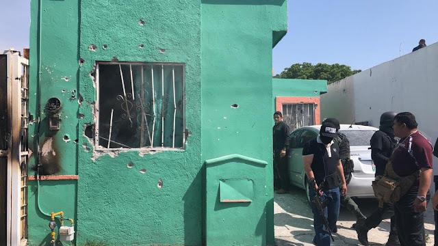 Se reporta fuerte enfrentamiento entre sicarios y policías en Saltillo; al menos 9 muertos.