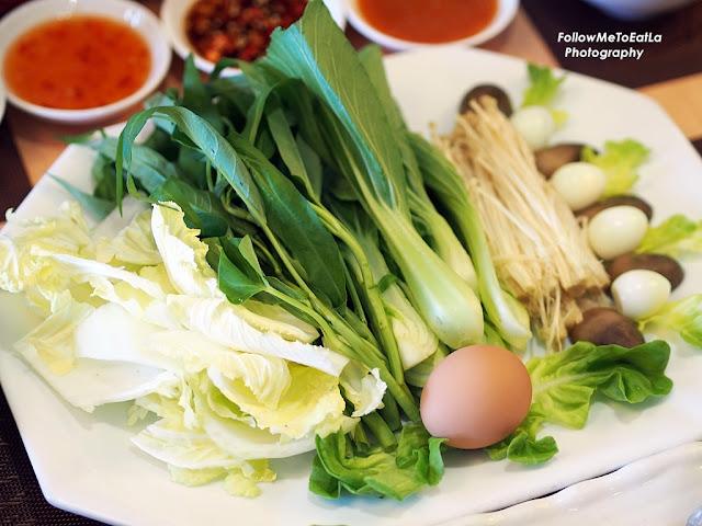Vegetables, Egg & Mushroom Platter
