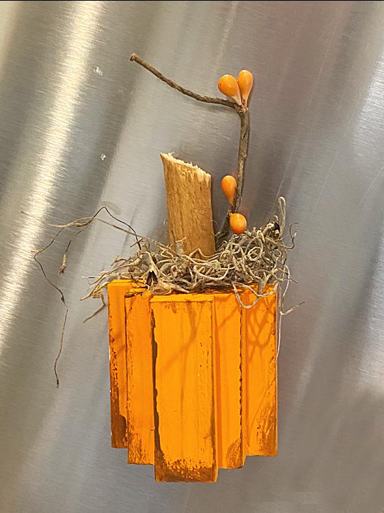 orange pumpkin refrigerator magnet
