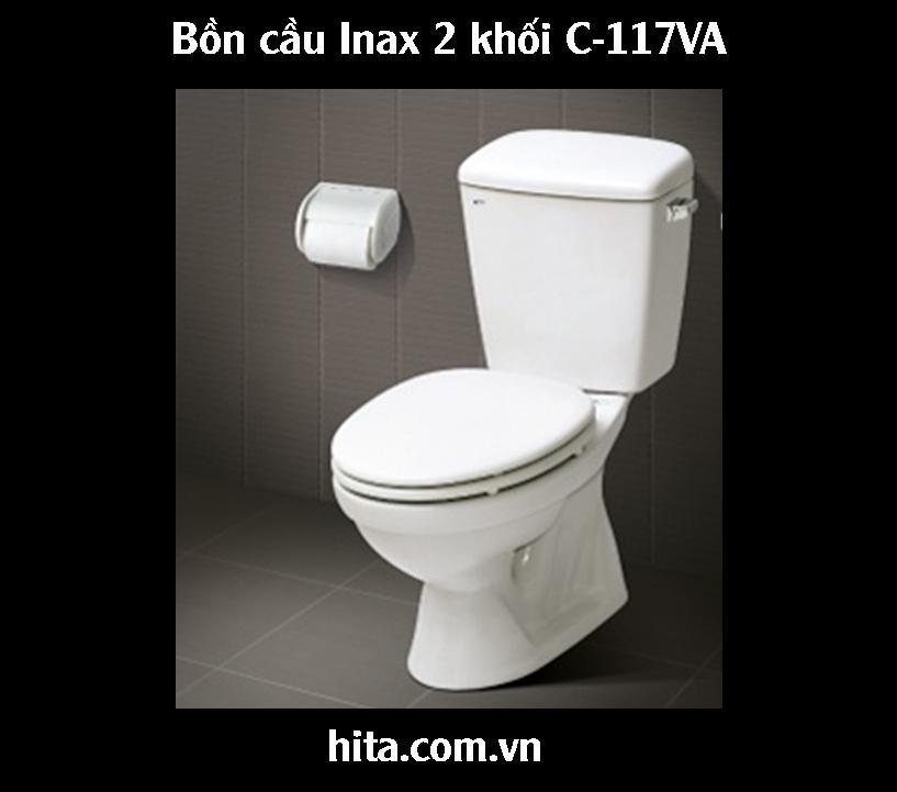 Giá, đặc điểm, tính năng bồn cầu Inax 2 khối C-117VA