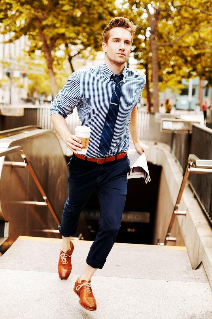 Blue pant blue gingham shirt combination for men men 39 s for Shirt and pants color combinations