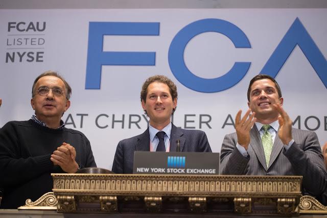 FCA Sergio Marchionne John Elkann NYSE