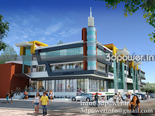 3D Rendering Shopping Mall