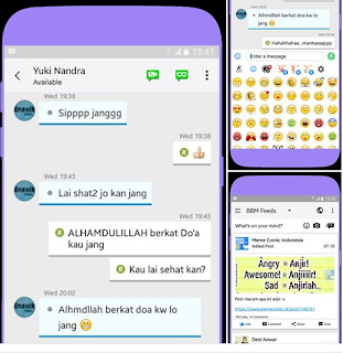 Download BBM MOD Ios v2 apk versi 3.2.2.8 Change Emoticon And Buble Terbaru 2017