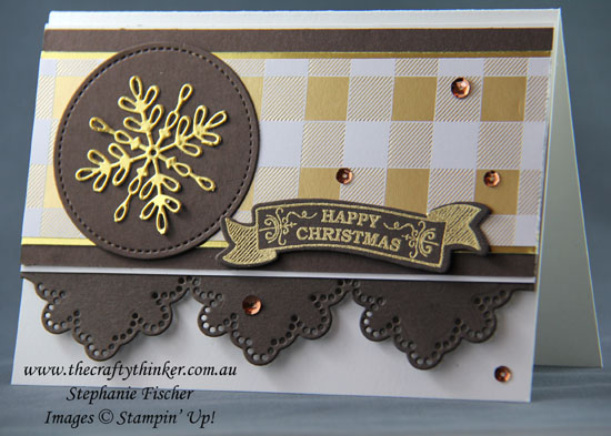 #thecraftythinker, Christmas Card, Swirly Snowflakes, Seasonal Bells, Stampin' Up Australia Demonstrator, Stephanie Fischer, #cardmaking, #christmascard