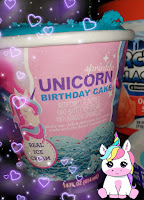 Dollar Tree Sprinkle Unicorn Birthday Cake ice cream pint blue