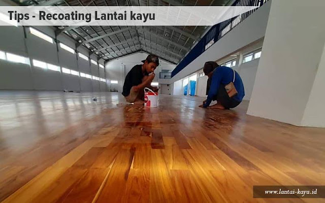 proses recoating lantai kayu