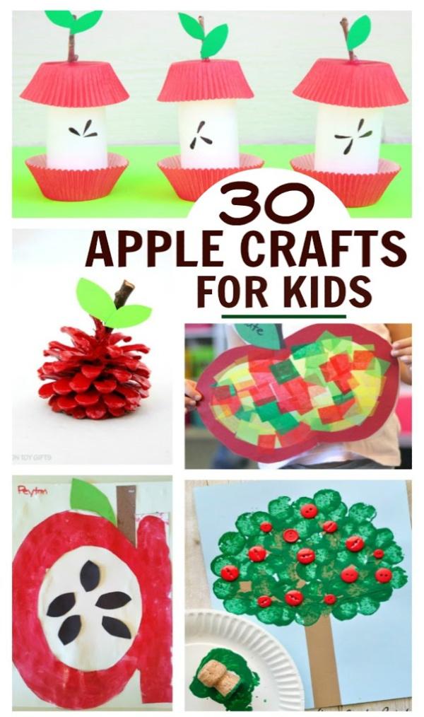 30+ apple crafts and activities for kids! #applecraftspreschool #appleactivitiesforkids #fallcraftsforkids #growingajeweledrose #activitiesforkids