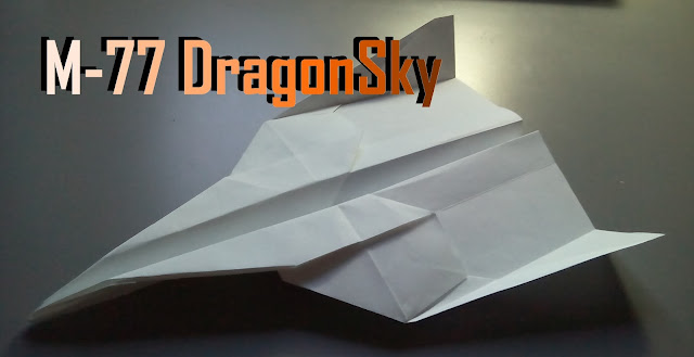 Avión de papel M-77 DragonSky