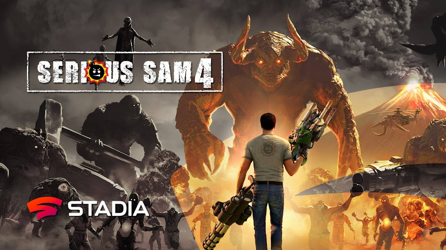 serious sam 4 google stadia exclusive 2021 first-person shooter game croteam devolver digital