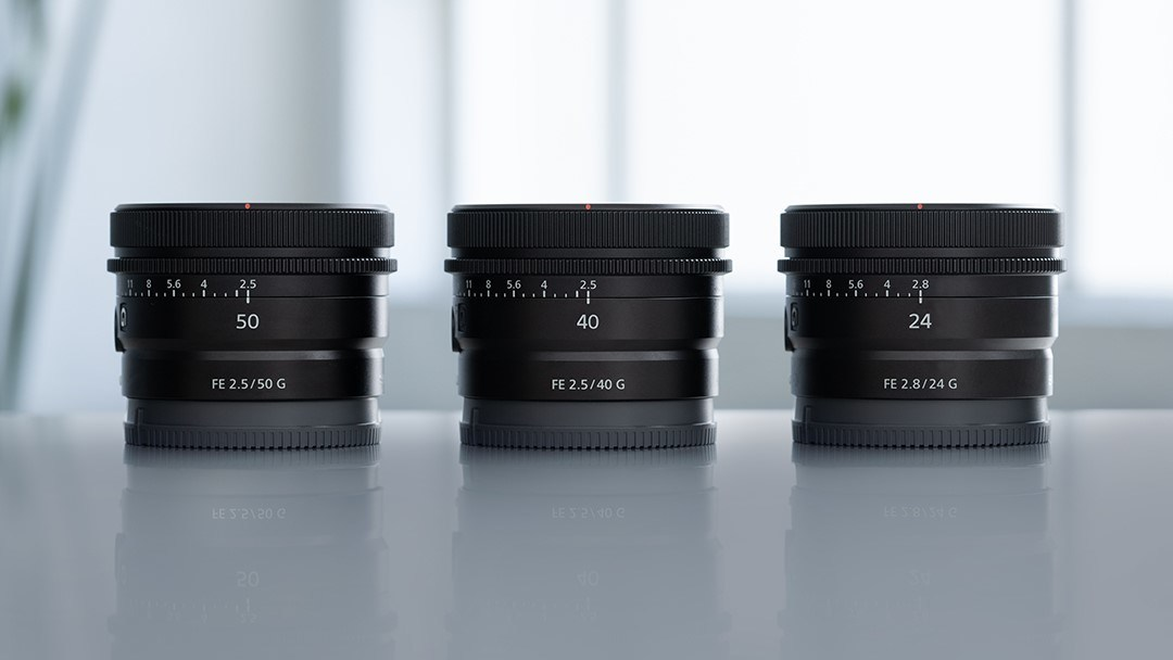 Sony introduces three new lightweight and compact G lenses