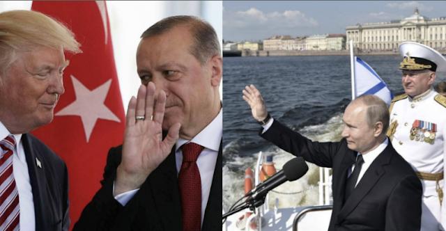 """الأمريكيون يستفزون تركيا بإجراء مشترك مع الأكراد قرب حدودها.. والروس يقيمون عرضاً عسكرياً في """"طرطوس برغ"""" (فيديو)"""