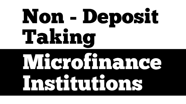 Non deposit taking microfinance institutions