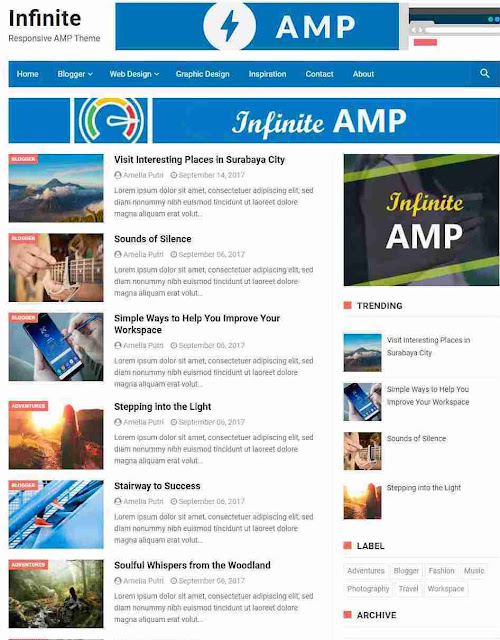 10 Best Free AMP Blogger Templates 2019 To boost your blog speed