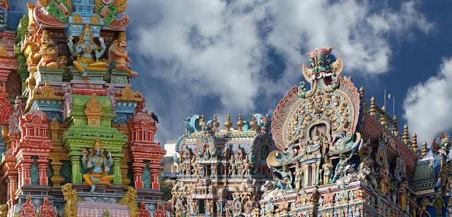 Индуистский храм Минакши в Мадурае, Тамил Наду, Южная Индия