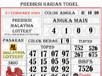 PREDIKSI MALAYSIA KAMIS, 27 FEBRUARY 2020