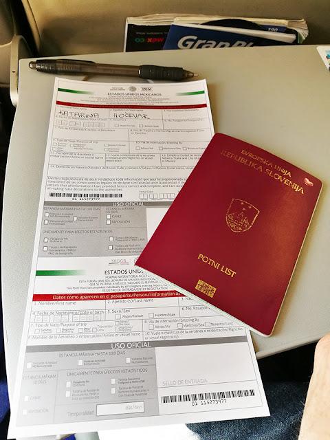 vstopni dokumenti za Mehiko