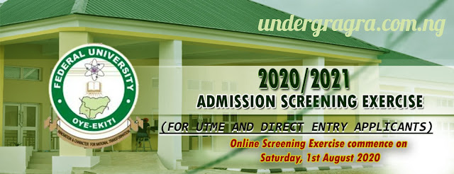 Register fuoye screening