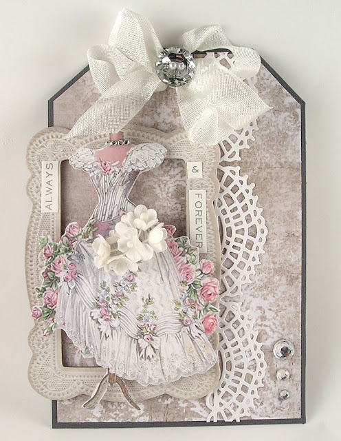 Stamperia Wedding Paper Idea-Ology Baseboard Lace Frames Sizzix Crochet Thinlits for The Funkie Junkie Boutique