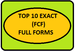 Top 10 Exact FCF Full Forms For Organizations