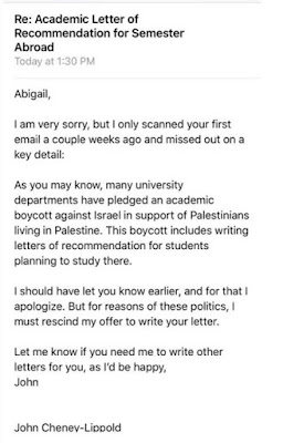 Fousesquawk umich prof refuses to write letter of recommendation this is how insidious the bds movement against israel is spiritdancerdesigns Image collections