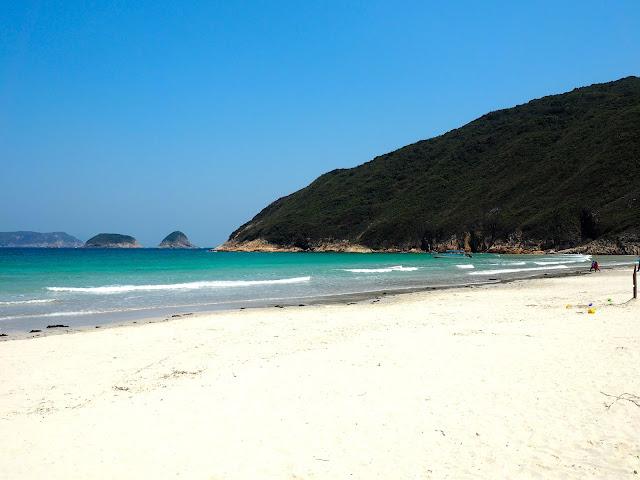 Sai Wan beach at Tai Long Wan, Hong Kong