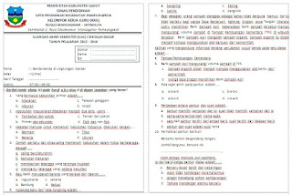 Soal UAS Tema 1 Kelas 5 Semester 1 Kurikulum 2013