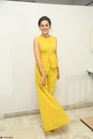 Taapsee Pannu looks mesmerizing in Yellow for her Telugu Movie Anando hma motion poster launch ~  Exclusive 064.JPG