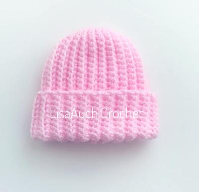 newborn baby hat free crochet pattern