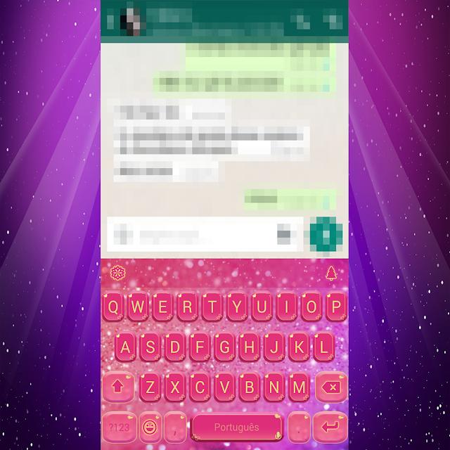 Seu celular com teclado personalizado
