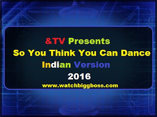 &TV Presents So You Think You Can Dance Indian Version 2016
