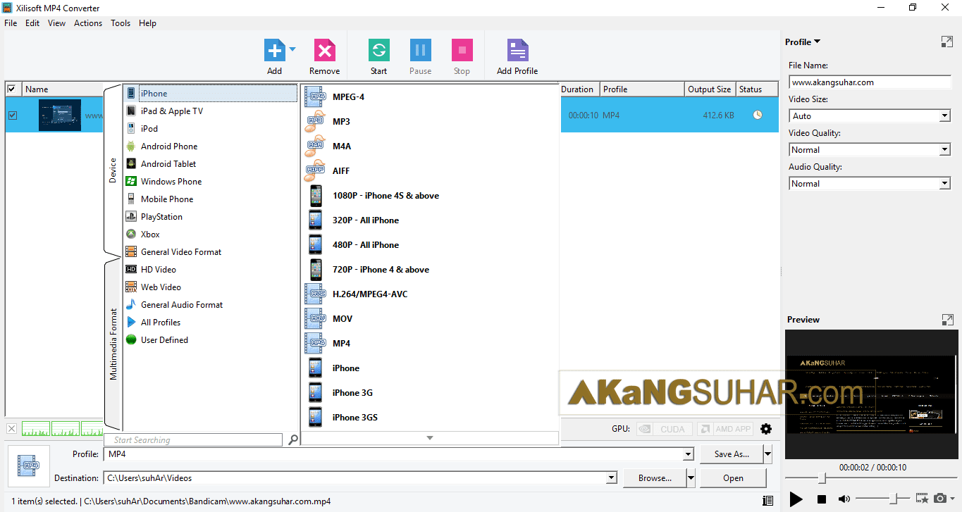 Free download Xilisoft MP4 Converter 7 Full serial key serial number terbaru latest version plus crack keygen patch license key activatio code for windows www.akangsuhar.com