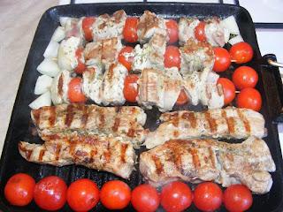 Gratar de porc cu legume retete culinare,