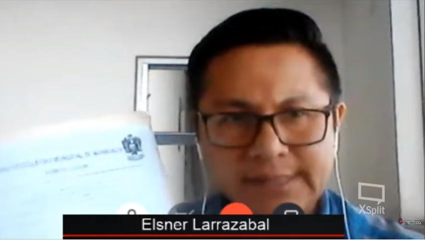 Elsner Larrazabal entrevistado por Roxana Lizárraga desde su refugio político en Perú  / CABILDEO