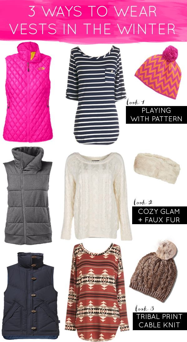 La Petite Fashionista: 3 Ways to Wear Vests in the Winter