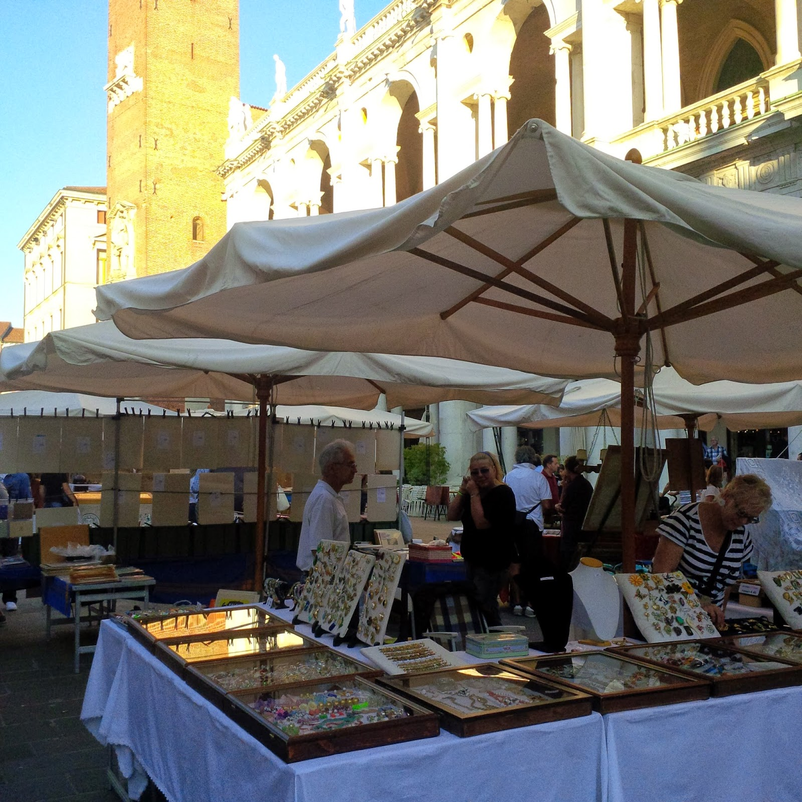 The antiques market in Vicenza
