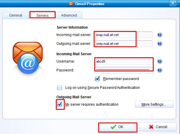 Paramètres IMAP pour flashnet