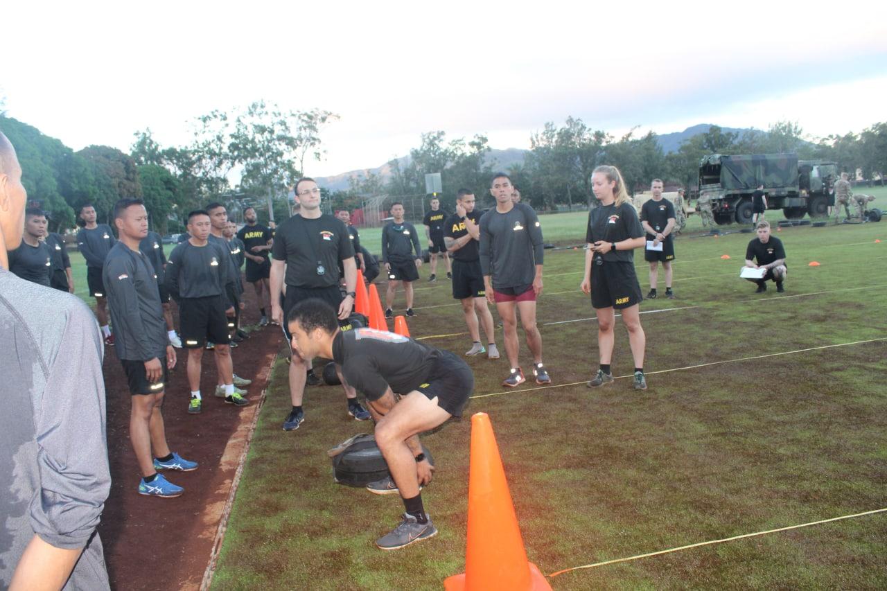 TNI AD dan Us ARMY Tunjukkan Kemampuan Fisik Melalui  ARMY ACFT 600
