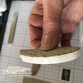 Trimmed edge with Tear & Tape Adhesive | Nature's INKspirations by Angie McKenzie