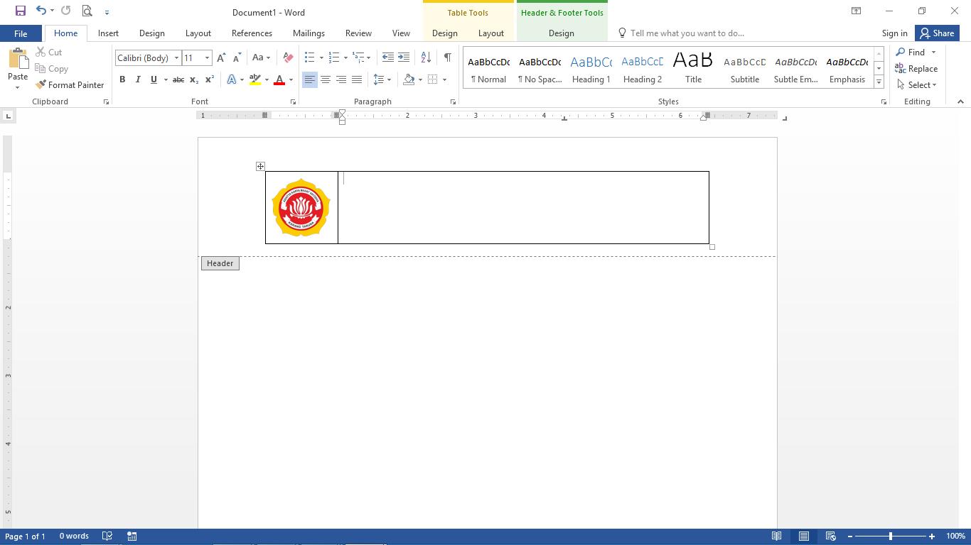 Membuat kop surat